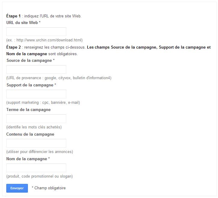 Générateur d'url Google