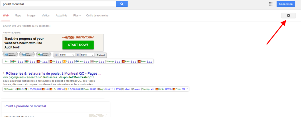 Google dans excel