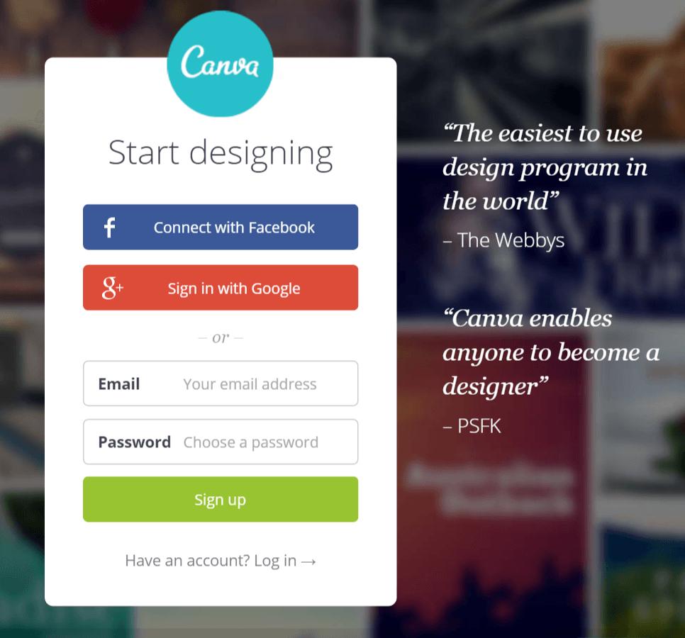 Créer des visuels facilement avec Canva