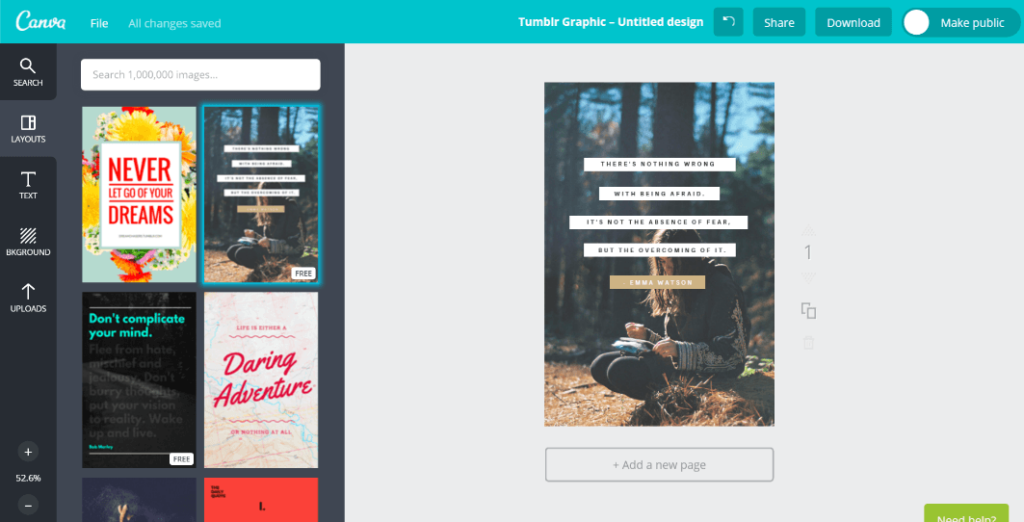 Exemple image Canva